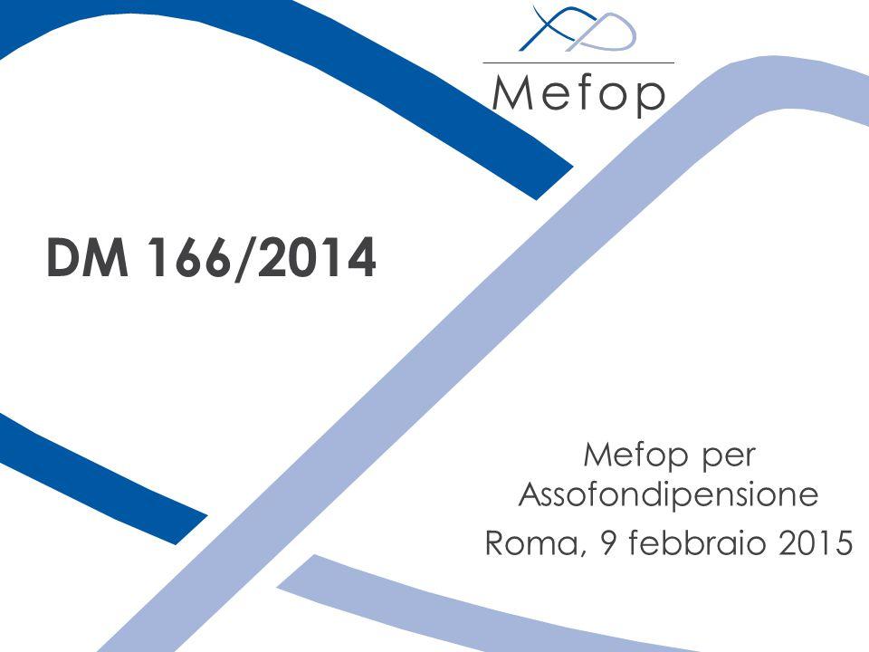 Mefop per Assofondipensione Roma, 9 febbraio 2015