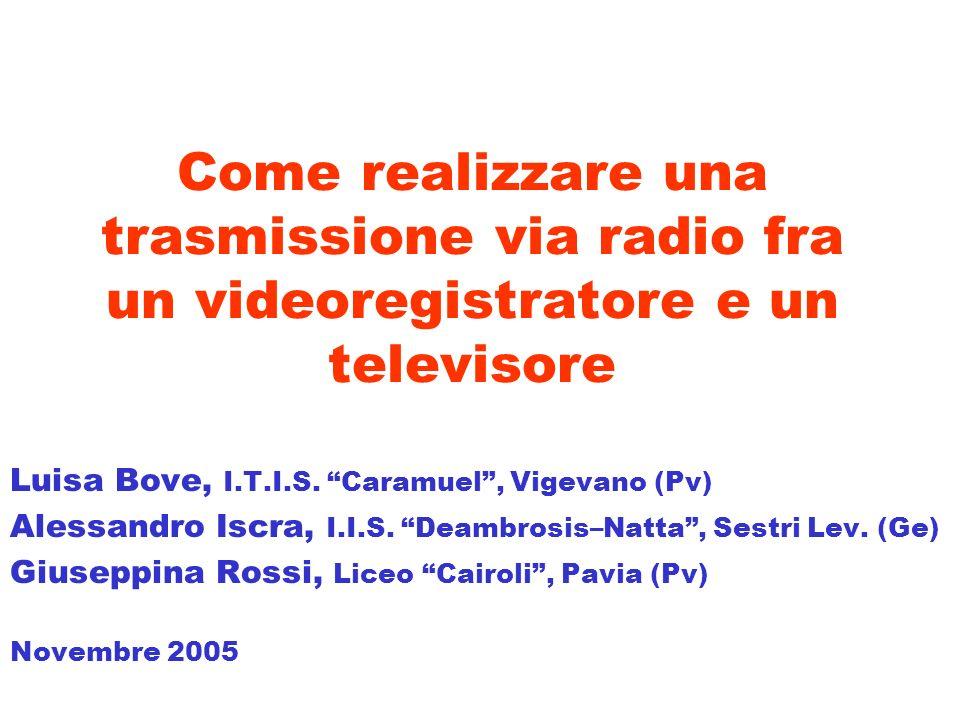 Come realizzare una trasmissione via radio fra un videoregistratore e un televisore