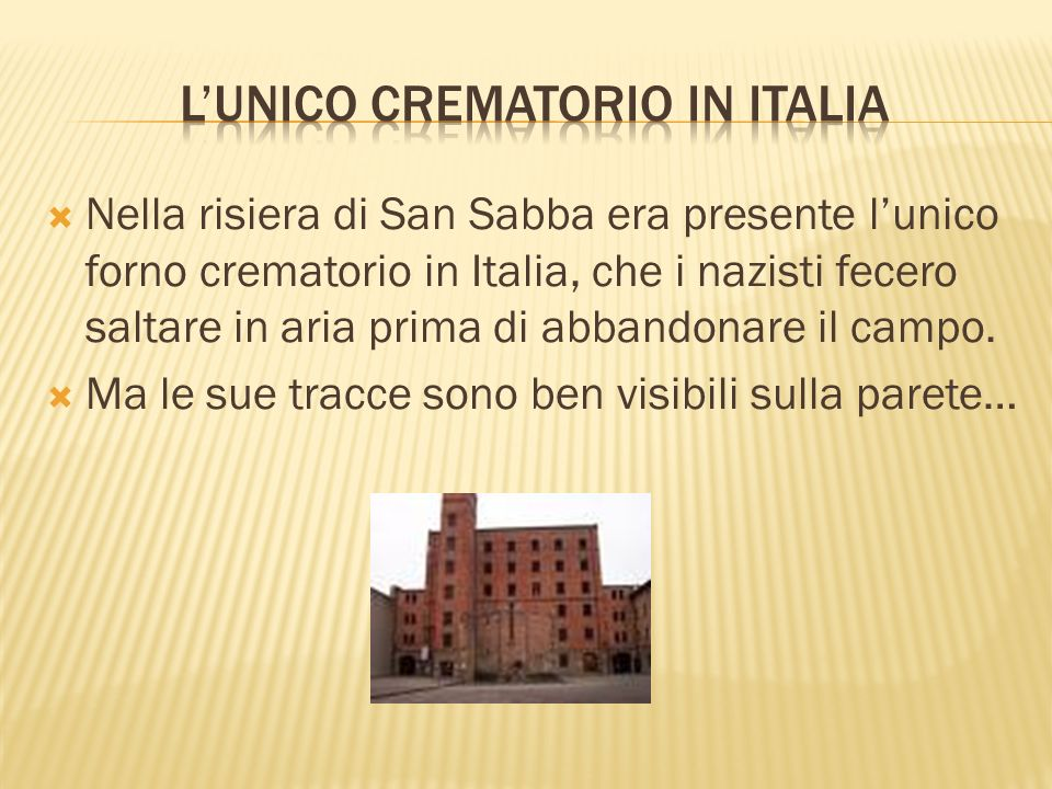 L'unico crematorio in Italia