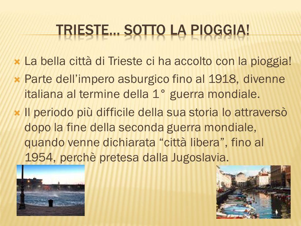 Trieste… sotto la pioggia!