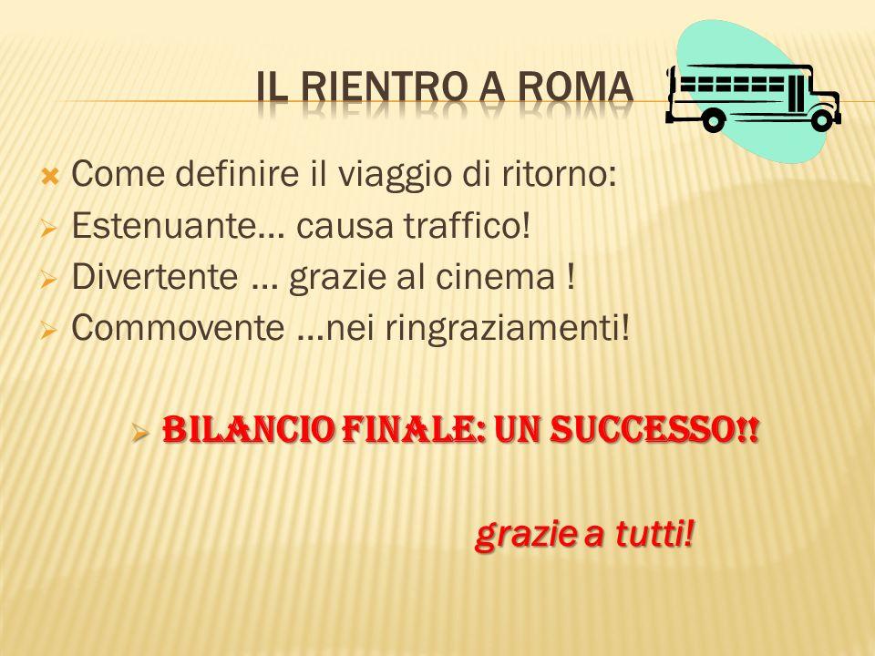 BILANCIO FINALE: UN SUCCESSO!!