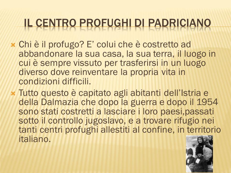Il centro profughi di Padriciano