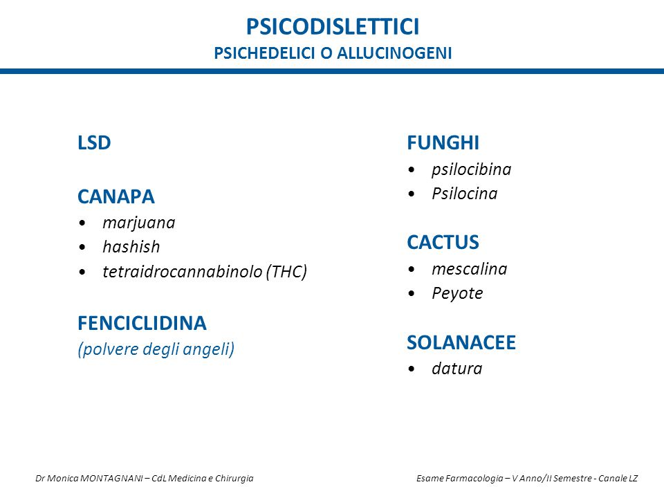 Psichedelici o allucinogeni