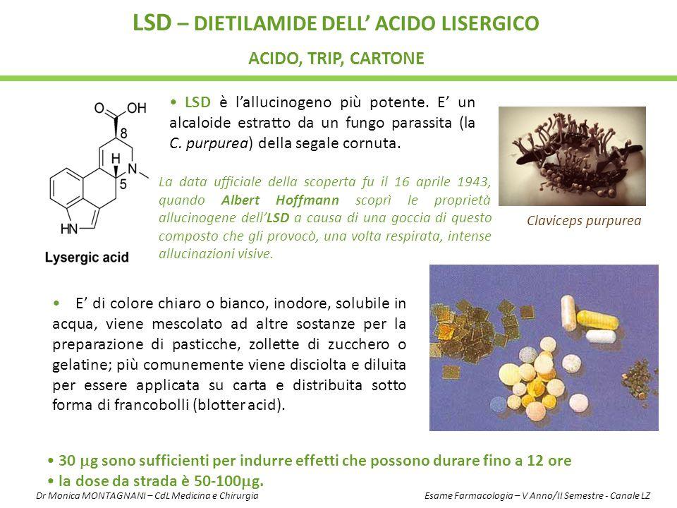 LSD – dietilamide dell' Acido Lisergico