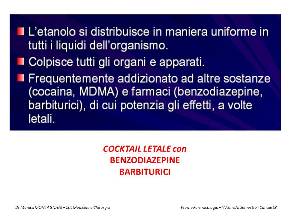 COCKTAIL LETALE con BENZODIAZEPINE BARBITURICI