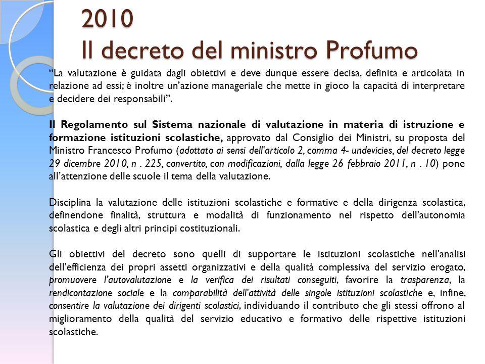 2010 Il decreto del ministro Profumo