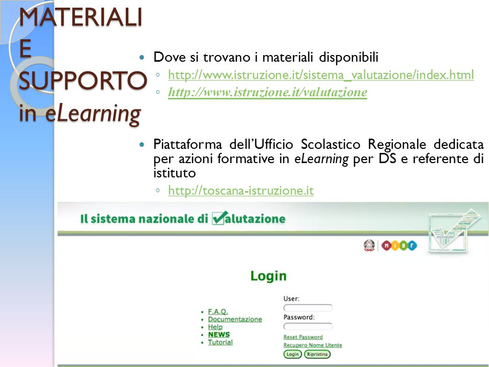 MATERIALI E SUPPORTO in eLearning