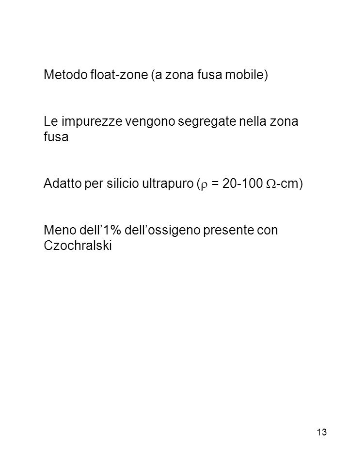 Metodo float-zone (a zona fusa mobile)