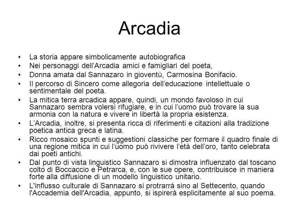 Arcadia La storia appare simbolicamente autobiografica