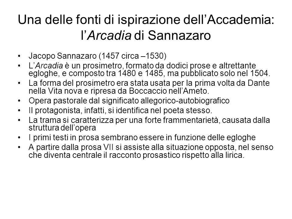 Una delle fonti di ispirazione dell'Accademia: l'Arcadia di Sannazaro