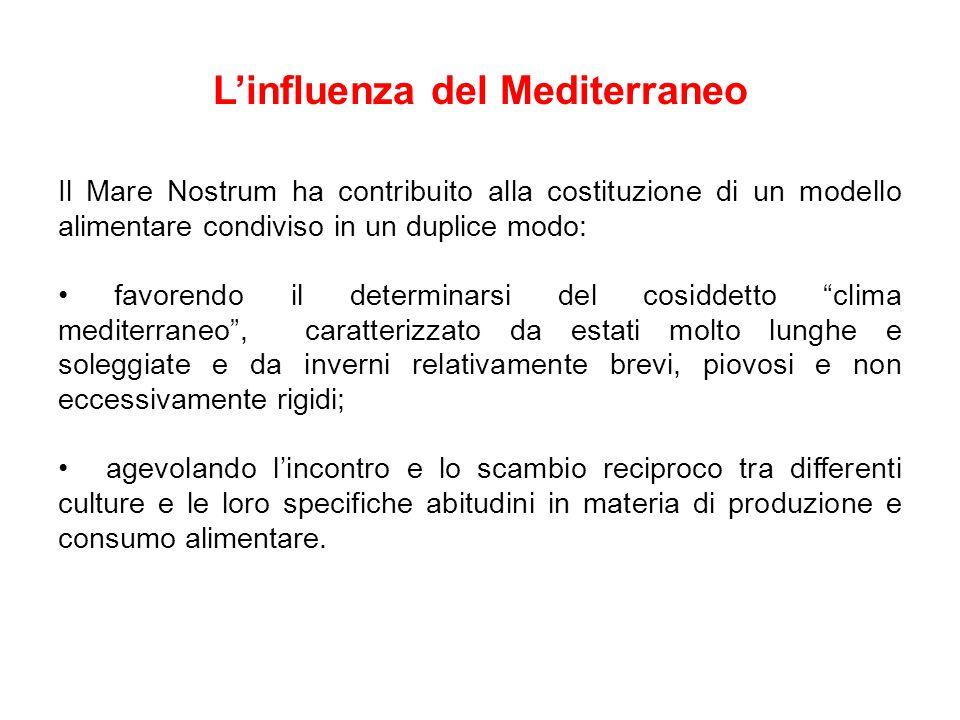 L'influenza del Mediterraneo