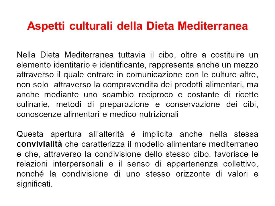 Aspetti culturali della Dieta Mediterranea