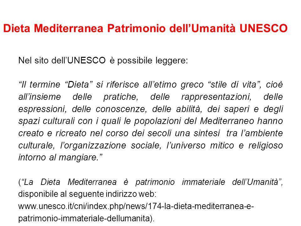 Dieta Mediterranea Patrimonio dell'Umanità UNESCO