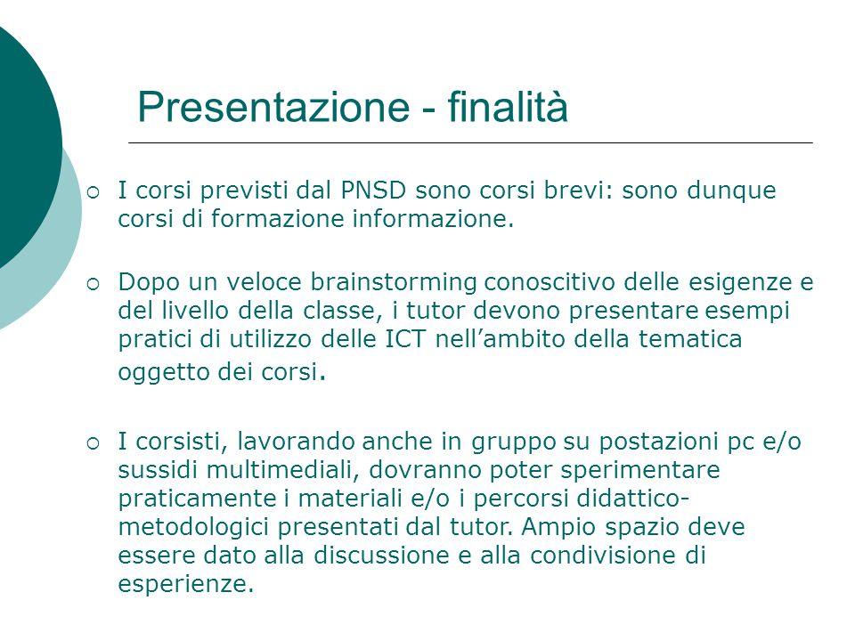 Presentazione - finalità