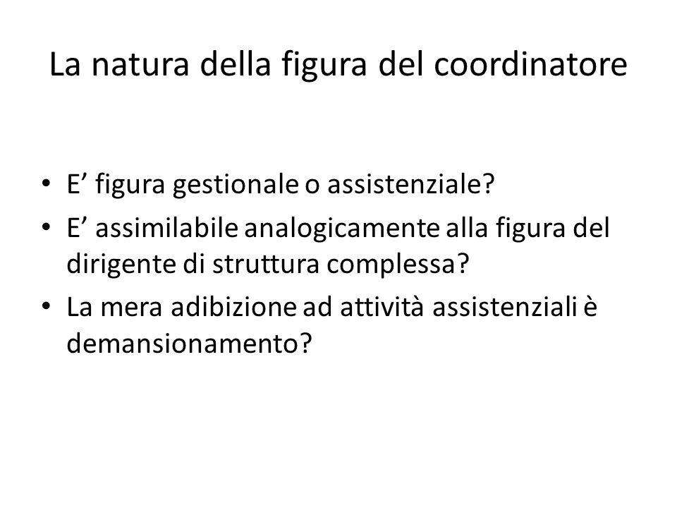 La natura della figura del coordinatore