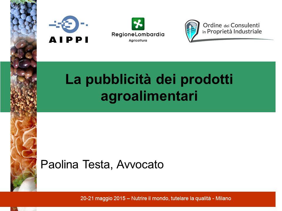 La pubblicità dei prodotti agroalimentari