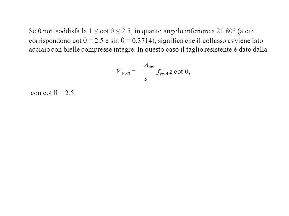 Se θ non soddisfa la 1 ≤ cot θ ≤ 2. 5, in quanto angolo inferiore a 21