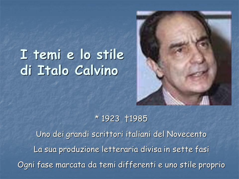 I temi e lo stile di Italo Calvino
