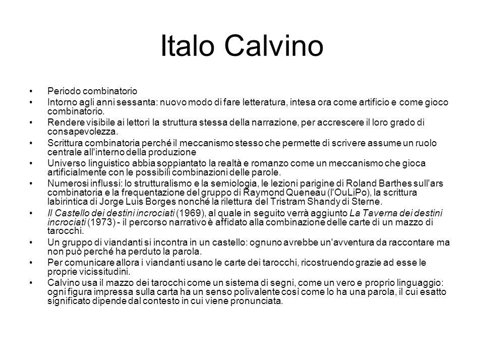 Italo Calvino Periodo combinatorio