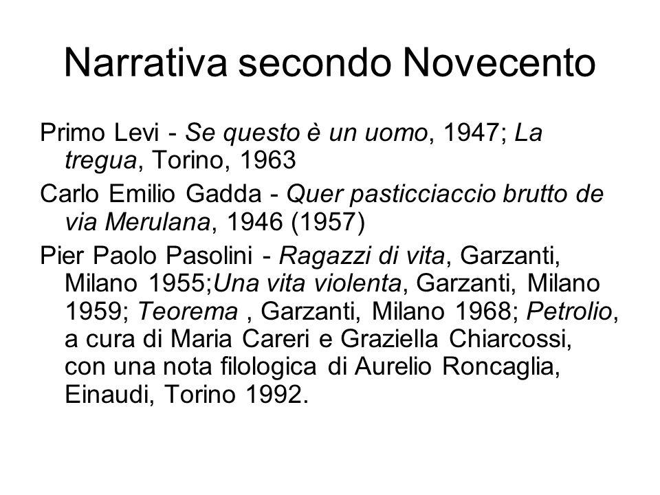 Narrativa secondo Novecento