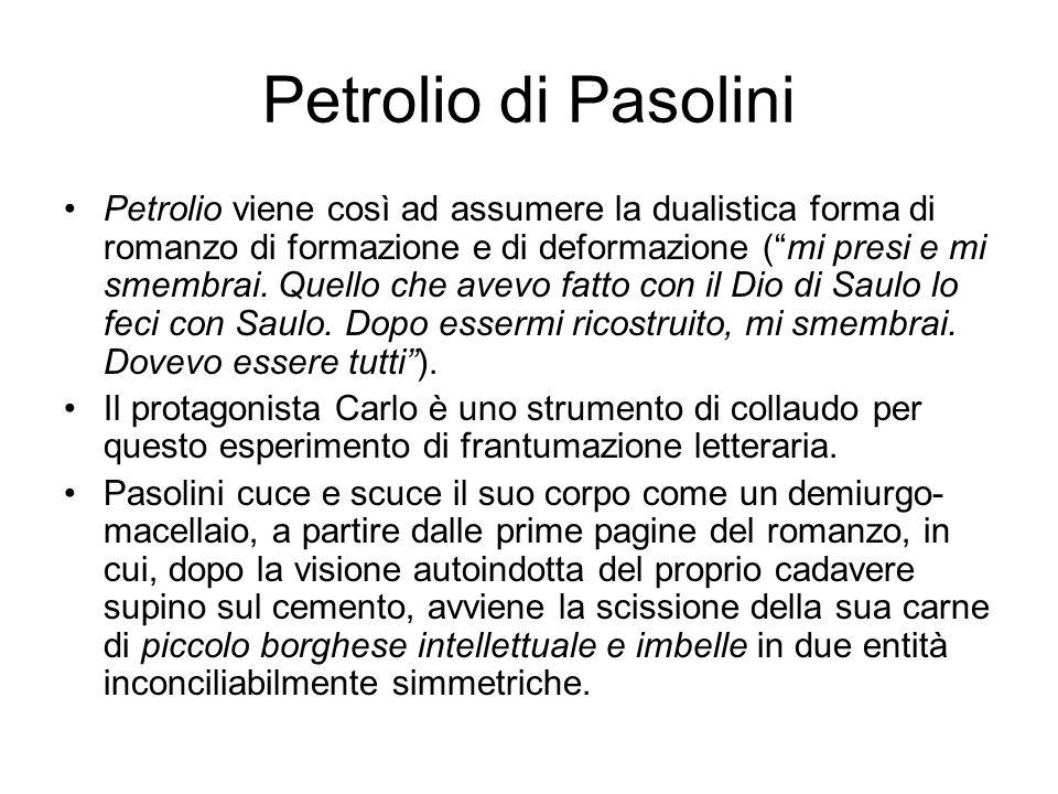 Petrolio di Pasolini