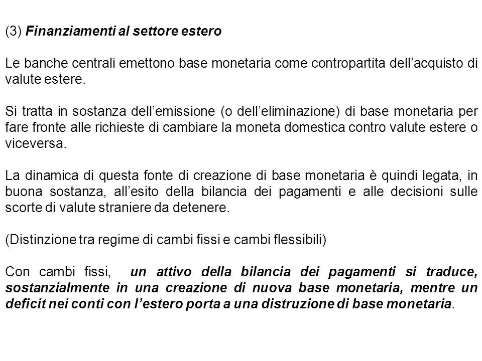 (3) Finanziamenti al settore estero