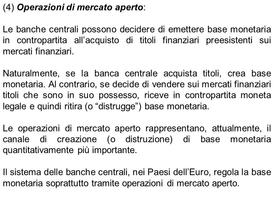 (4) Operazioni di mercato aperto:
