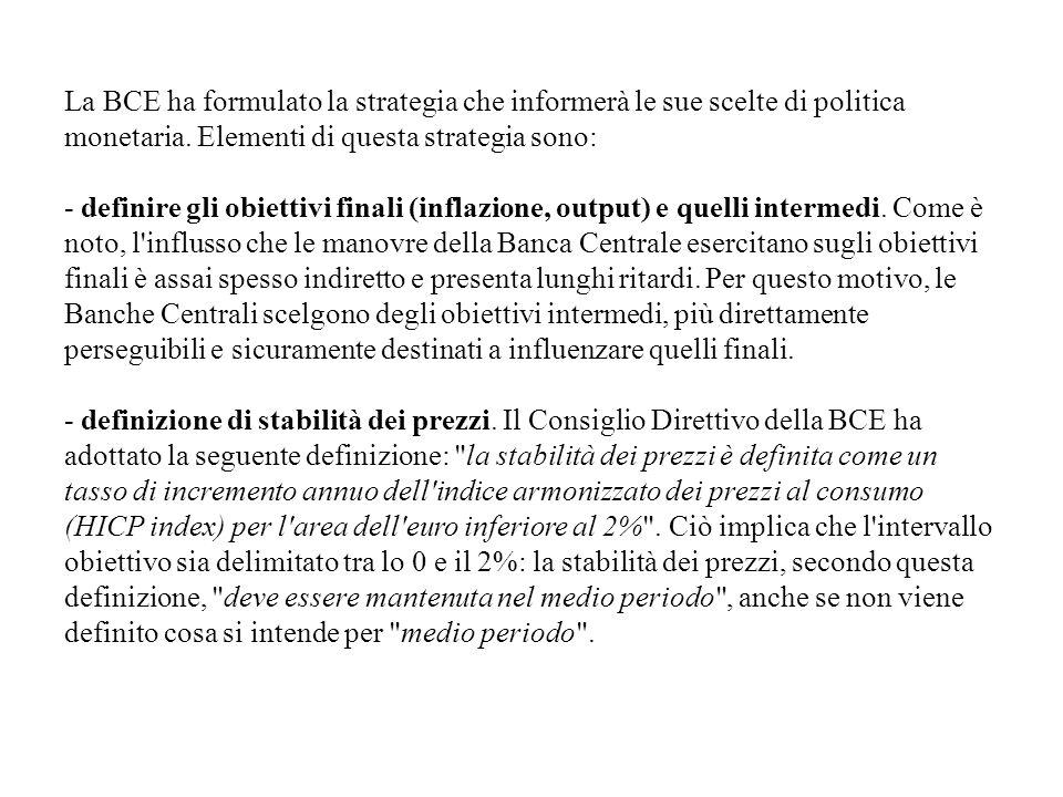 La BCE ha formulato la strategia che informerà le sue scelte di politica monetaria.