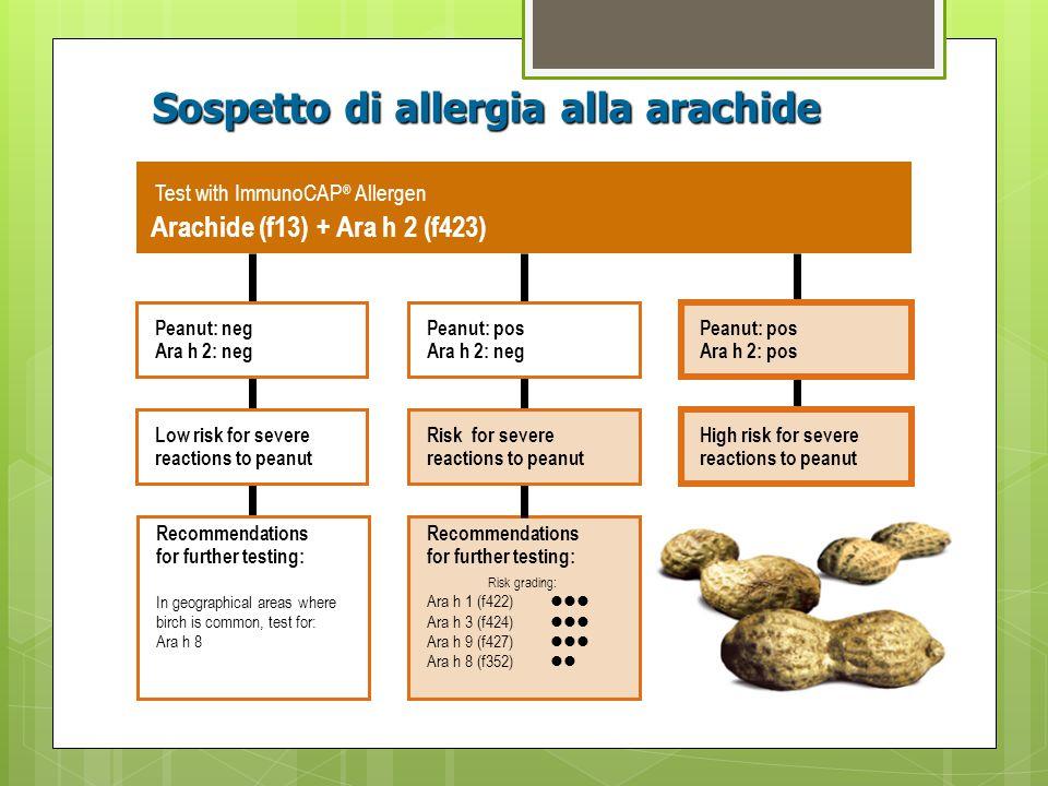 Sospetto di allergia alla arachide