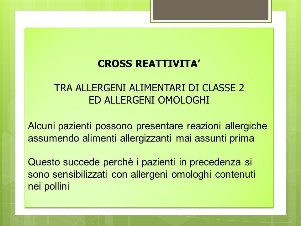 TRA ALLERGENI ALIMENTARI DI CLASSE 2