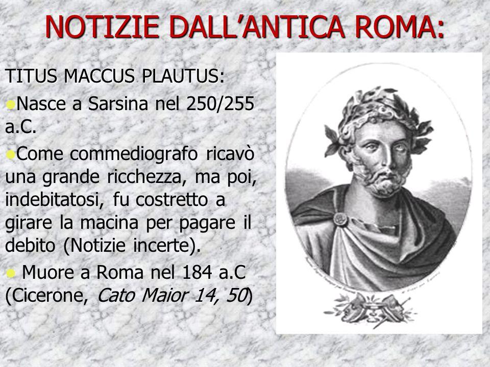 NOTIZIE DALL'ANTICA ROMA: