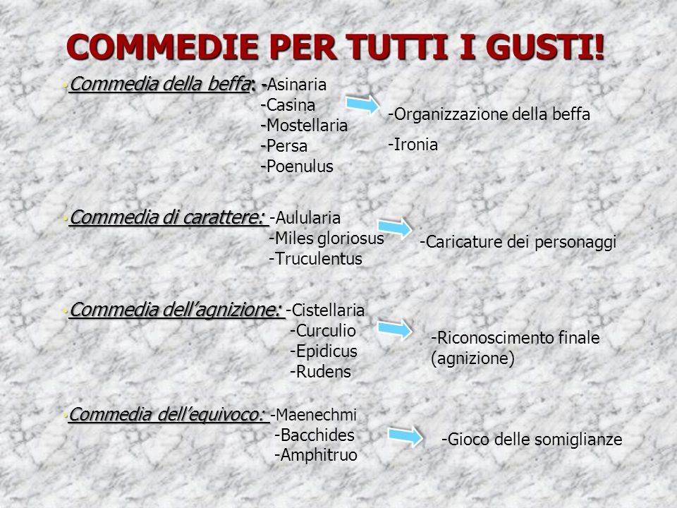 COMMEDIE PER TUTTI I GUSTI!