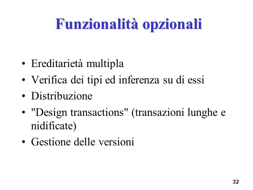Funzionalità opzionali