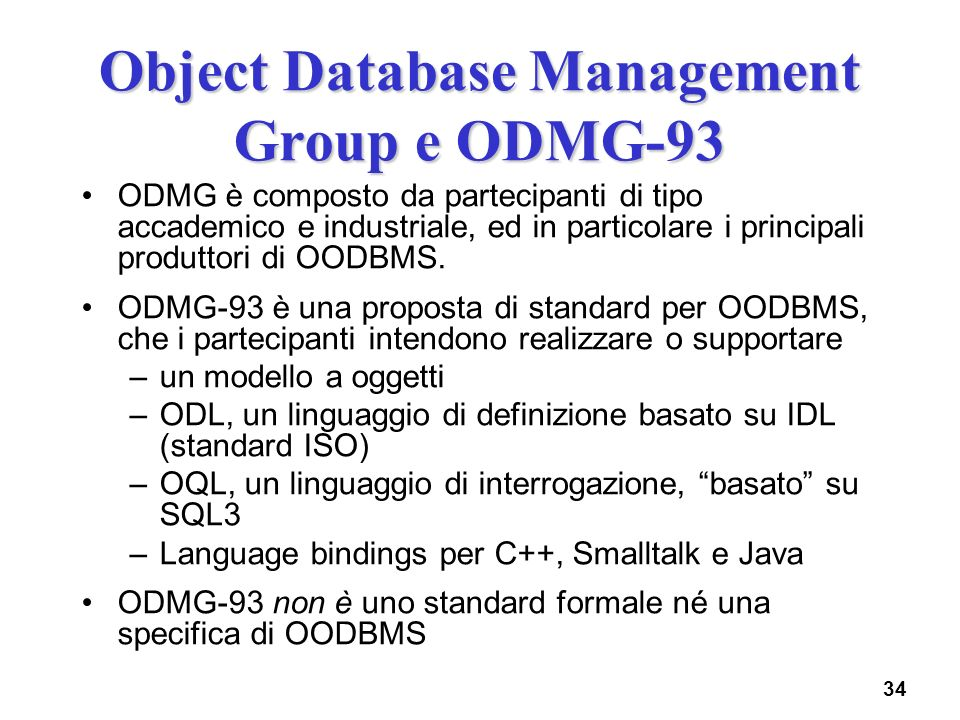 Object Database Management Group e ODMG-93