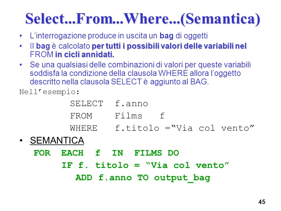 Select...From...Where...(Semantica)