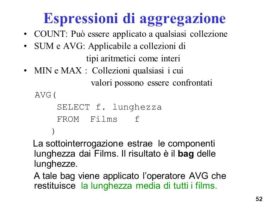 Espressioni di aggregazione