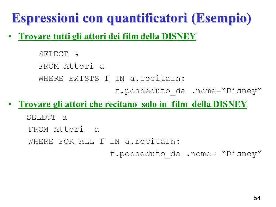 Espressioni con quantificatori (Esempio)