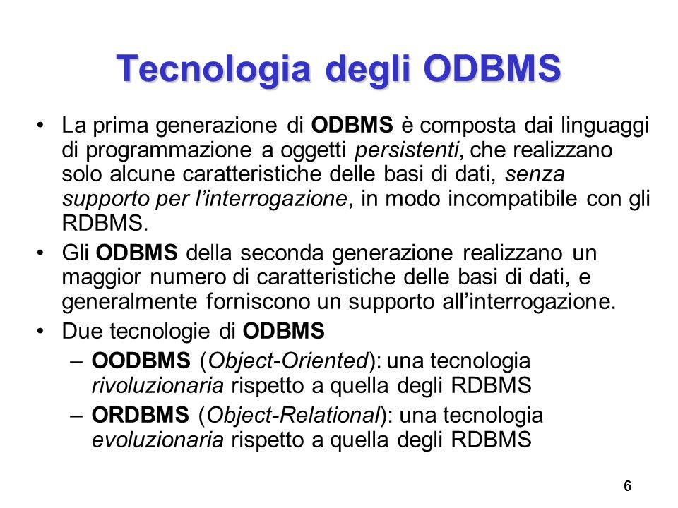 Tecnologia degli ODBMS