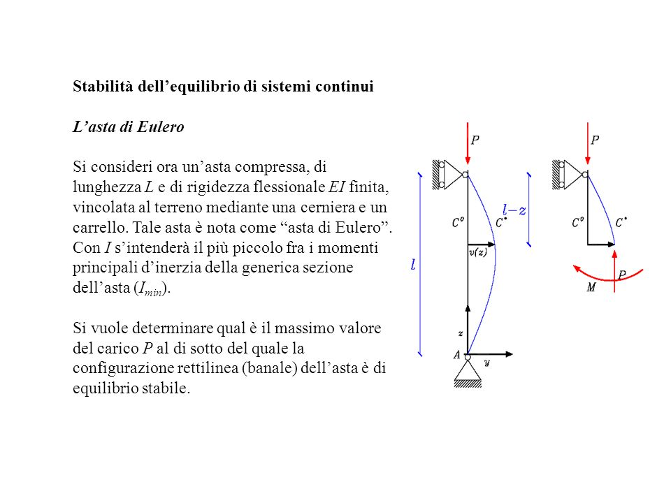 Stabilità dell'equilibrio di sistemi continui