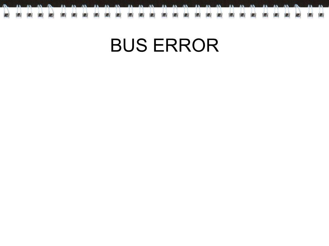 BUS ERROR