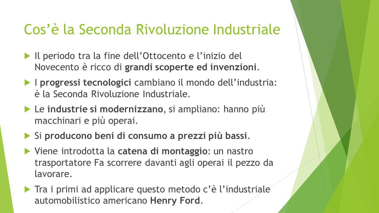Cos'è la Seconda Rivoluzione Industriale