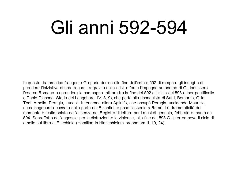 Gli anni 592-594