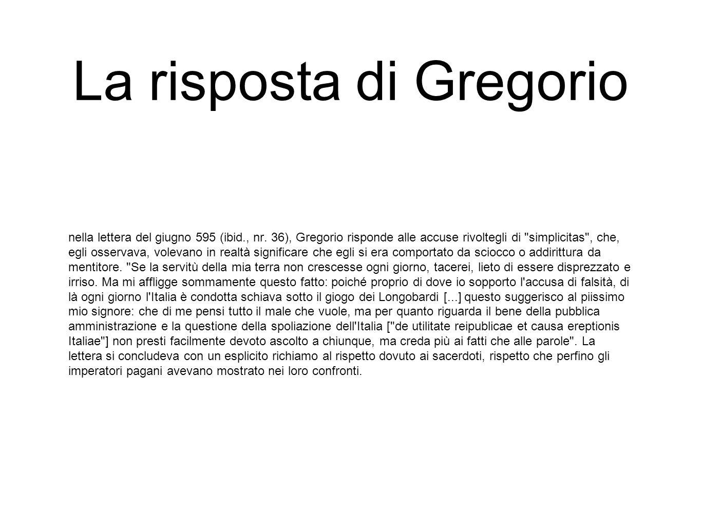 La risposta di Gregorio