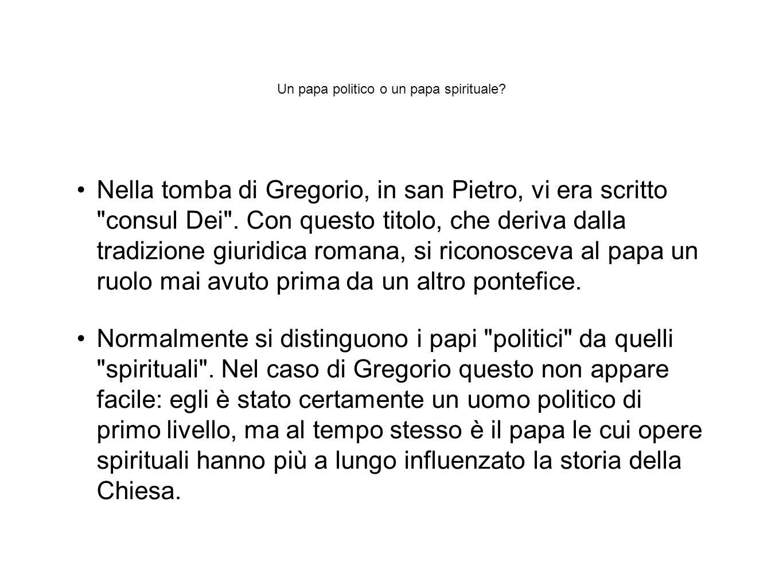 Un papa politico o un papa spirituale