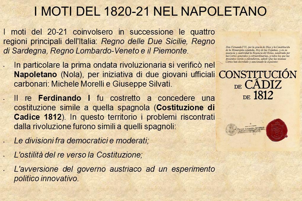 I MOTI DEL 1820-21 NEL NAPOLETANO