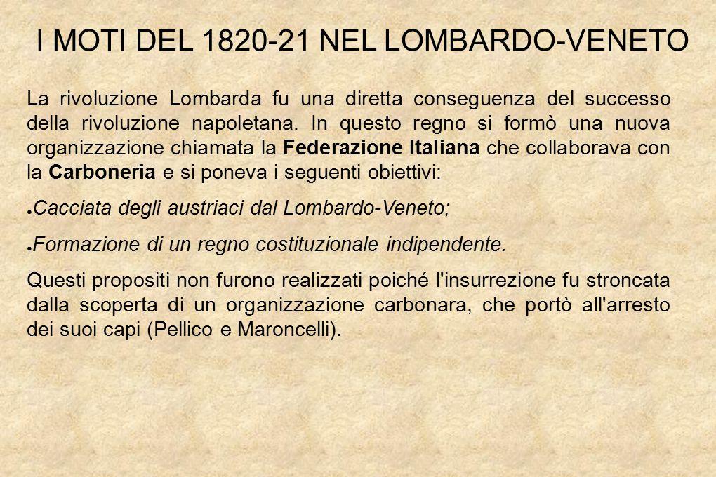 I MOTI DEL 1820-21 NEL LOMBARDO-VENETO