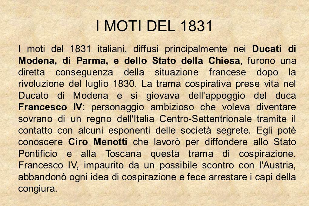 I MOTI DEL 1831