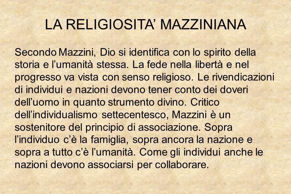 LA RELIGIOSITA' MAZZINIANA