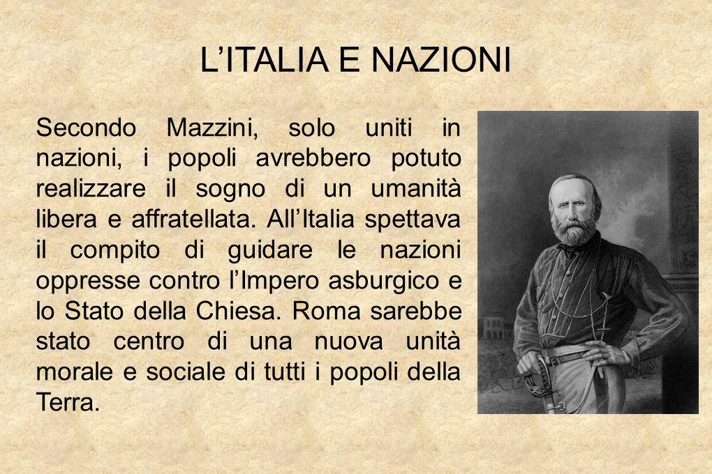 L'ITALIA E NAZIONI