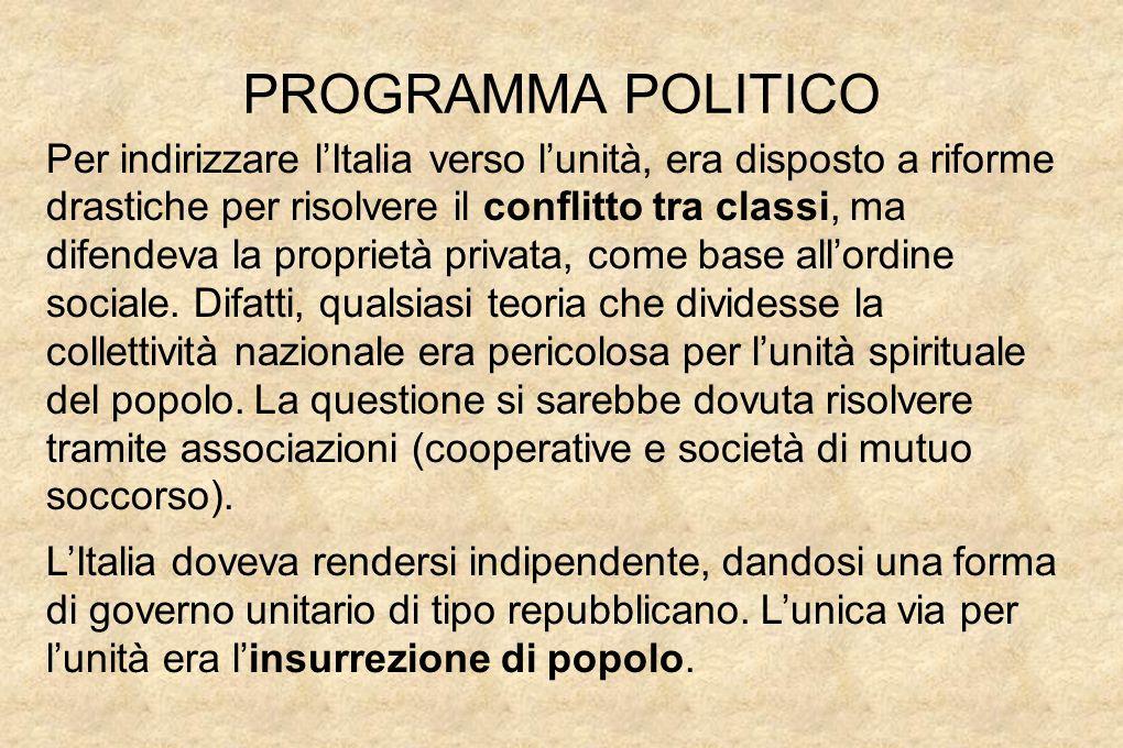 PROGRAMMA POLITICO